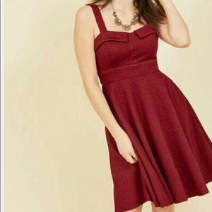 Red ModCloth Swing Dress with Pockets!